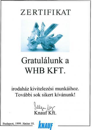 1999 Knauf Certificate